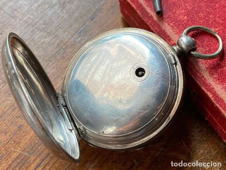Relojes de bolsillo: Reloj de bolsillo con llave waltham mass funcionando - Foto 7 - 206932998