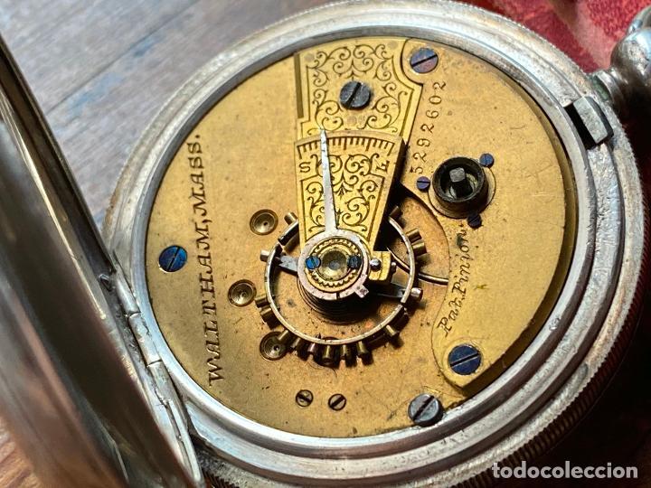 Relojes de bolsillo: Reloj de bolsillo con llave waltham mass funcionando - Foto 10 - 206932998