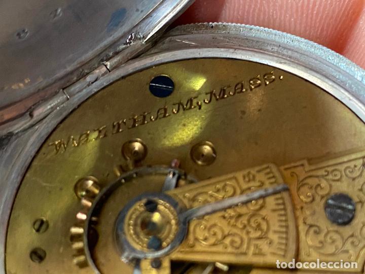 Relojes de bolsillo: Reloj de bolsillo con llave waltham mass funcionando - Foto 14 - 206932998