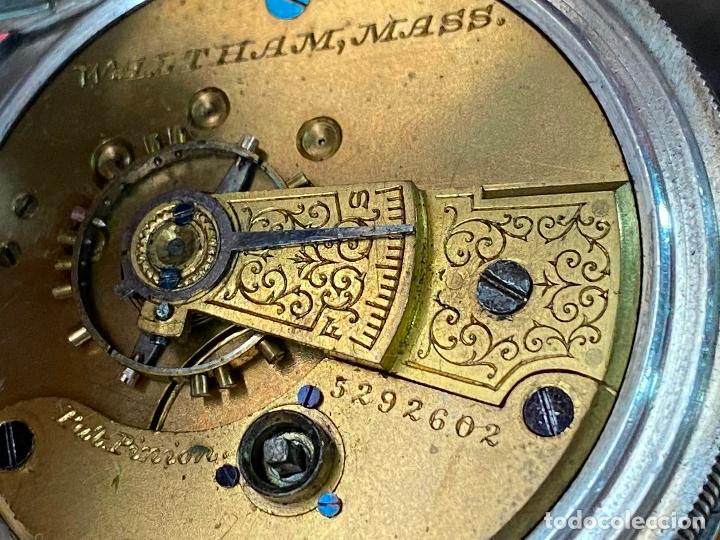 Relojes de bolsillo: Reloj de bolsillo con llave waltham mass funcionando - Foto 15 - 206932998