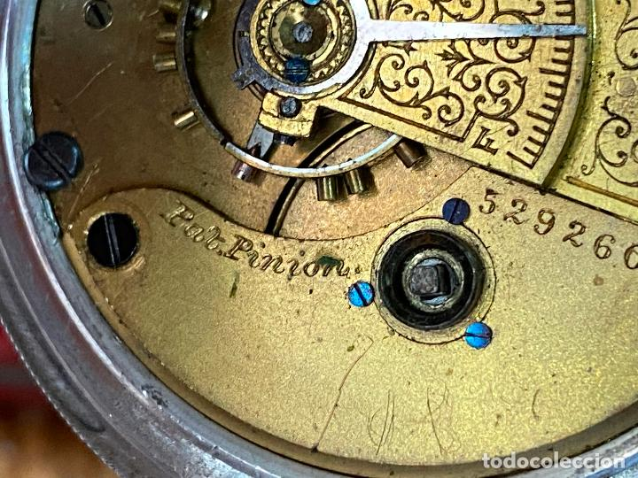 Relojes de bolsillo: Reloj de bolsillo con llave waltham mass funcionando - Foto 16 - 206932998