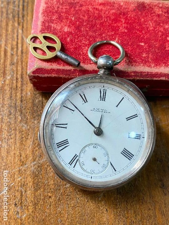 RELOJ DE BOLSILLO CON LLAVE WALTHAM MASS FUNCIONANDO (Relojes - Bolsillo Carga Manual)