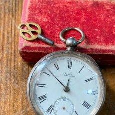 Relojes de bolsillo: RELOJ DE BOLSILLO CON LLAVE WALTHAM MASS FUNCIONANDO. Lote 206932998
