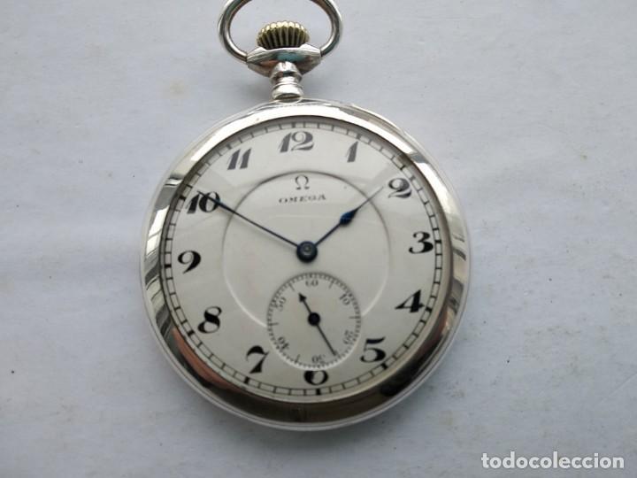 RELOJ OMEGA BOLSILLO PLATA (Relojes - Bolsillo Carga Manual)
