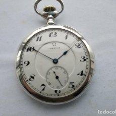 Relojes de bolsillo: RELOJ OMEGA BOLSILLO PLATA. Lote 206958950