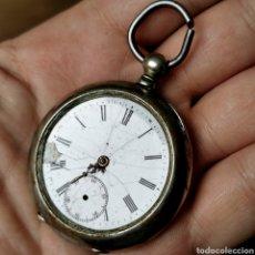 Relojes de bolsillo: RELOJ SIGLO XIX. ARMILA. CYLINDRE RUBIS. PLATA .800. N° 76331. Lote 207014800
