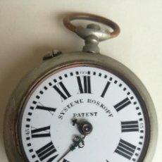 Relojes de bolsillo: ANTIGUO RELOJ DE BOLSILLO SYSTEME ROSKOPF PATENT ESFERA PORCELANA. PARA PIEZAS. DIÁMETRO: 5,3 CM. Lote 207105770