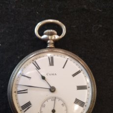 Relojes de bolsillo: ANTIGUO RELOJ DE BOLSILLO CYMA DE PLATA.. Lote 207162455