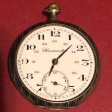 Relojes de bolsillo: ANTIGUO RELOJ DE BOLSILLO DE PLATA CHRONOMETRE.. Lote 207325388