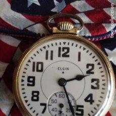 Relojes de bolsillo: RELOJ DE BOLSILLO ELGIN USA GRADO 478 BW RAYMOND RAILROAD 1933. Lote 208742538