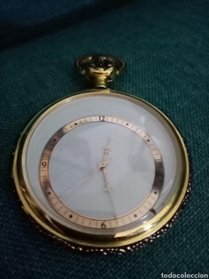 Relojes de bolsillo: Antiguo reloj de bolsillo Dorado singular - Foto 4 - 209026805
