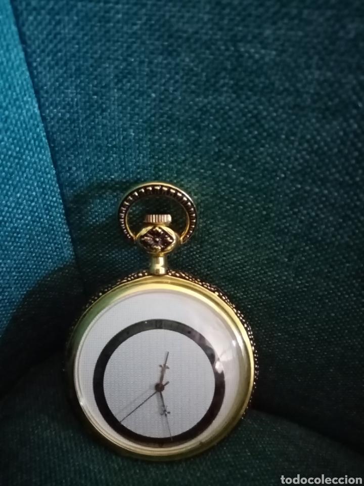 Relojes de bolsillo: Antiguo reloj de bolsillo Dorado singular - Foto 5 - 209026805