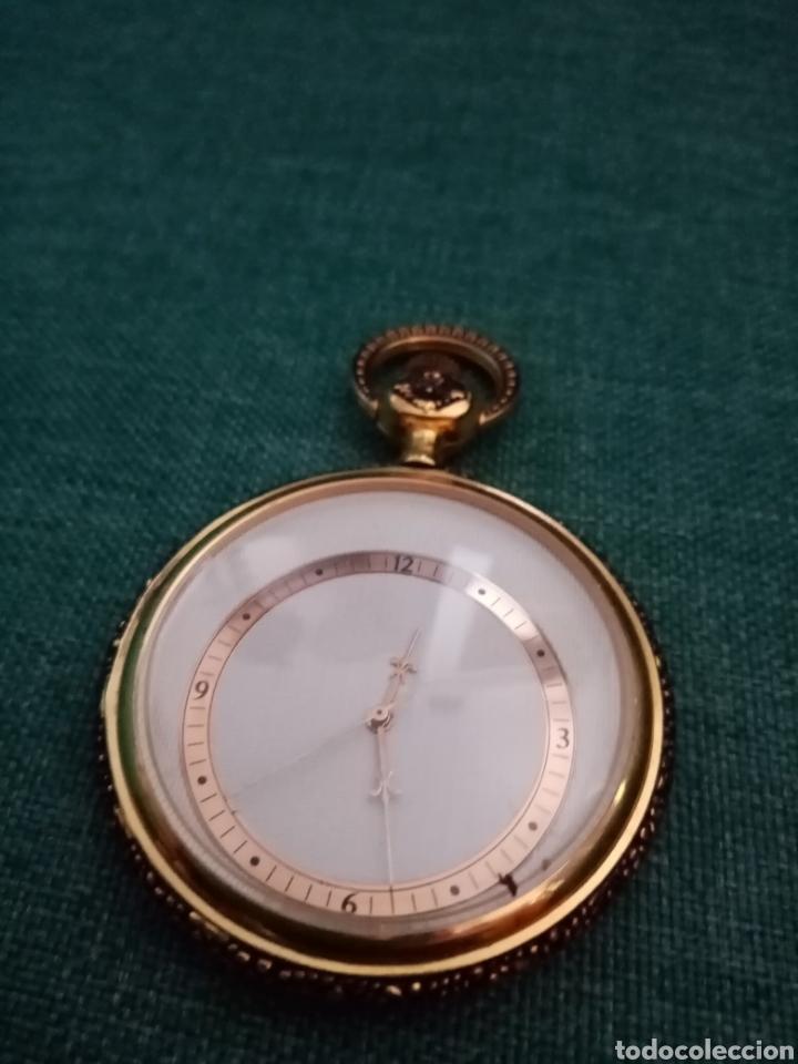 ANTIGUO RELOJ DE BOLSILLO DORADO SINGULAR (Relojes - Bolsillo Carga Manual)