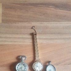 Relojes de bolsillo: LOTE DE 3 RELOJES MARCA EXACTUS , MYON E INITIAL. Lote 209371378