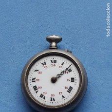 Relojes de bolsillo: RELOJ DE BOLSILLO ANTIGUO CON CAJA DE METAL DECORADO. Lote 209711743