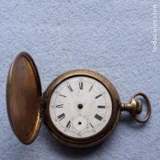 Relojes de bolsillo: RELOJ DE BOLSILLO ANTIGUO. CON CAJA DE METAL DE 3 TAPAS.. Lote 209865133