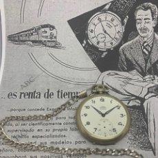 Relojes de bolsillo: RELOJ JUSMA SISTEMA INCABLOC. Lote 210265032