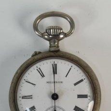 Relojes de bolsillo: RELOJ DE BOLSILLO MILBROOK. CAJA DE METAL PLATEADO. SUIZA. SIGLO XX.. Lote 210266687