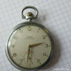 Relojes de bolsillo: ANTIGUO RELOJ BOLSILLO SILVOZ EN ACERO- 15 RUBIES- FUNCIONA PERFECTAMENTE-LOTE 259. Lote 210302335
