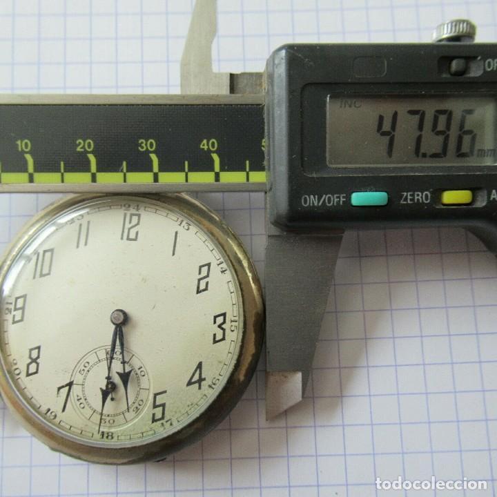 Relojes de bolsillo: antiguo RELOJ BOLSILLO EN ACERO- FUNCIONA-LOTE 259 - Foto 2 - 210302500