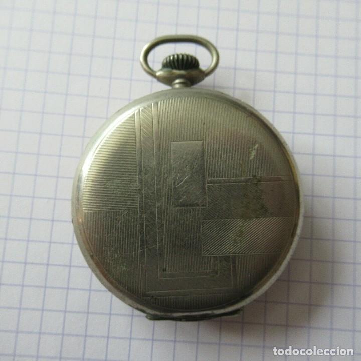 Relojes de bolsillo: antiguo RELOJ BOLSILLO EN ACERO- FUNCIONA-LOTE 259 - Foto 3 - 210302500
