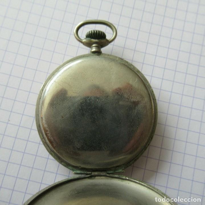 Relojes de bolsillo: antiguo RELOJ BOLSILLO EN ACERO- FUNCIONA-LOTE 259 - Foto 5 - 210302500