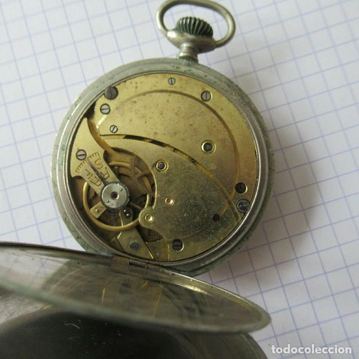 Relojes de bolsillo: antiguo RELOJ BOLSILLO EN ACERO- FUNCIONA-LOTE 259 - Foto 6 - 210302500