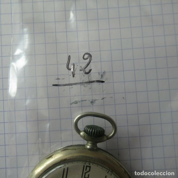 Relojes de bolsillo: antiguo RELOJ BOLSILLO EN ACERO- FUNCIONA-LOTE 259 - Foto 7 - 210302500