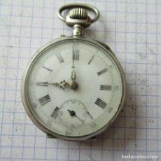 Montres de poche: ANTIGUO RELOJ BOLSILLO EN PLATA AÑO 1880 - FUNCIONA- LOTE 259. Lote 210303213
