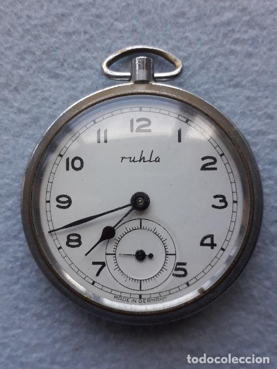 Relojes de bolsillo: Reloj de bolsillo marca Ruhlo. Made in Germany. - Foto 5 - 210332500