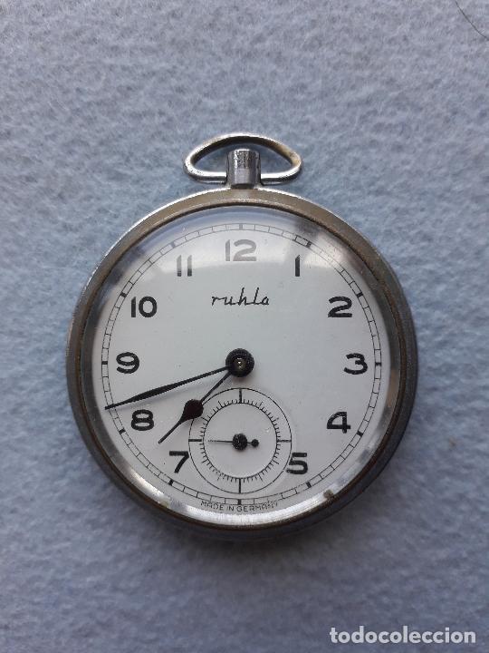 RELOJ DE BOLSILLO MARCA RUHLO. MADE IN GERMANY. (Relojes - Bolsillo Carga Manual)