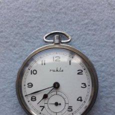 Relojes de bolsillo: RELOJ DE BOLSILLO MARCA RUHLO. MADE IN GERMANY.. Lote 210332500