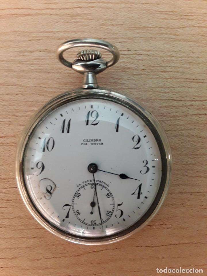 RELOJ DE BOLSILLO CILINDRO FIX WATCH,EL TRUST MADRID (Relojes - Bolsillo Carga Manual)