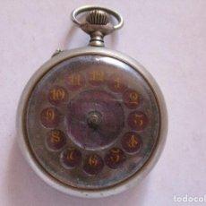 Relojes de bolsillo: RELOJ DE BOLSILLO CON ESFERAS ESMALTADAS. Lote 210332795