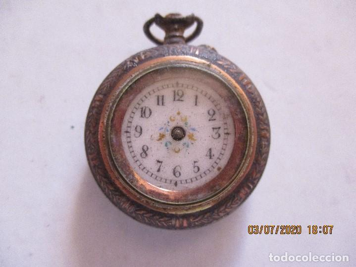 RELOJ DE BOLSILLO CON MOTIVOS FLORALES (Relojes - Bolsillo Carga Manual)