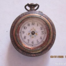 Relojes de bolsillo: RELOJ DE BOLSILLO CON MOTIVOS FLORALES. Lote 210333730