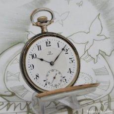 Relojes de bolsillo: OMEGA-FANTÁSTICO RELOJ DE BOLSILLO DE PLATA-CIRCA 1916-FUNCIONANDO. Lote 210408958