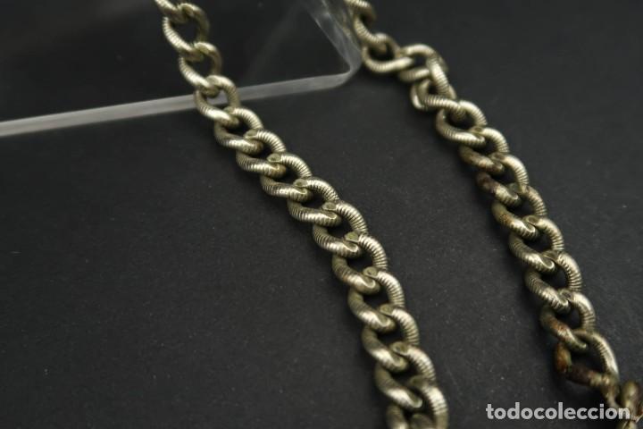 Relojes de bolsillo: Antigua Leontina con llave para Reloj de Bolsillo - Foto 11 - 210790275