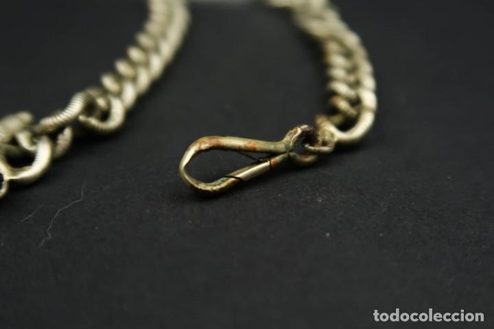 Relojes de bolsillo: Antigua Leontina con llave para Reloj de Bolsillo - Foto 13 - 210790275