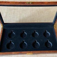 Orologi da taschino: CAJA PARA GUARDAR 8 RELOJES DE BOLSILLO . 40X20X4,5.. Lote 210834621