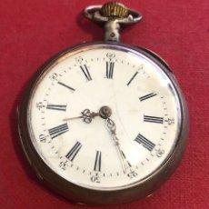 Relojes de bolsillo: ANTIGUO RELOJ DE BOLSILLO DE PLATA.. Lote 211407080