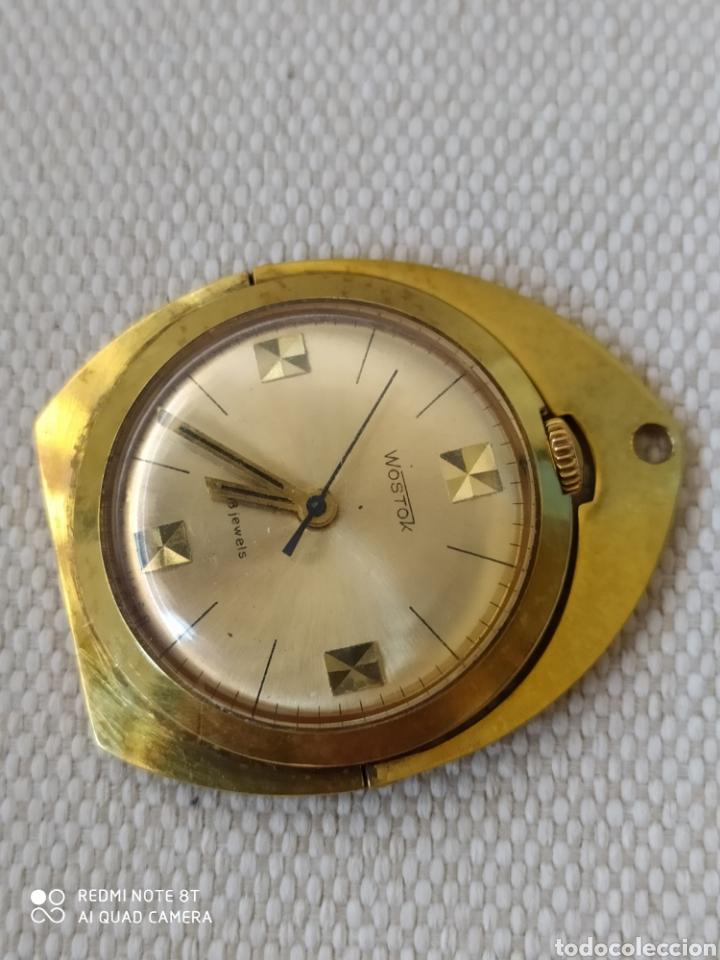 Relojes de bolsillo: Raro reloj mecánico ruso Vostok de escritorio ó colgante - Foto 2 - 211475846
