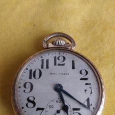 Relojes de bolsillo: RELOJ DE BOLSILLO WALTHAM USA GRADO 645 DE 1910 RAILROAD. Lote 211768292