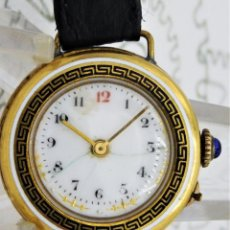 Relojes de bolsillo: MUY ANTIGUO RELOJ DE PULSERA-BOLSILLO SUIZO-CIRCA 1880-FUNCIONANDO. Lote 212121158