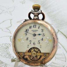 Relojes de bolsillo: RARO-MARLBORO HEBDOMAS-8 DÍAS-DE PLATA-RELOJ DE BOLSILLO-CIRCA 1908-FUNCIONANDO. Lote 212125088