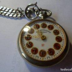Relojes de bolsillo: MAGNIFICO RELOJ DE BOLSILLO GENRE ROSSKOPF FUNCIONANDO,SALIDA 1 EURO. Lote 213220450
