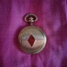 Relojes de bolsillo: RELOJ DORADO_COBRIZO DE BOLSILLO PRECIOSO. 4.5CM X 4.5CM. Lote 213236002