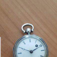Relojes de bolsillo: RELOJ CATALINA FORMA HEXAGONAL DE PLATA LABRADA CONTRASTADA BUEN ESTADO CIRCA 1820 1830 FUNCIONA. Lote 213241965