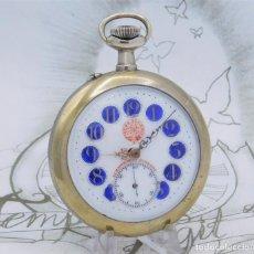 Relojes de bolsillo: PRECIOSO Y GRAN RELOJ DE BOLSILLO MESSAGGERO-SUIZO-CIRCA 1920-FUNCIONANDO. Lote 213433333