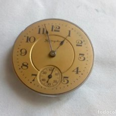 Relojes de bolsillo: MAQUINARIA RELOJ DE BOLSILLO MARCA HAMPDEN DEL TAMAÑO 3/0 SIZE - FUNCIONANDO. Lote 213531338